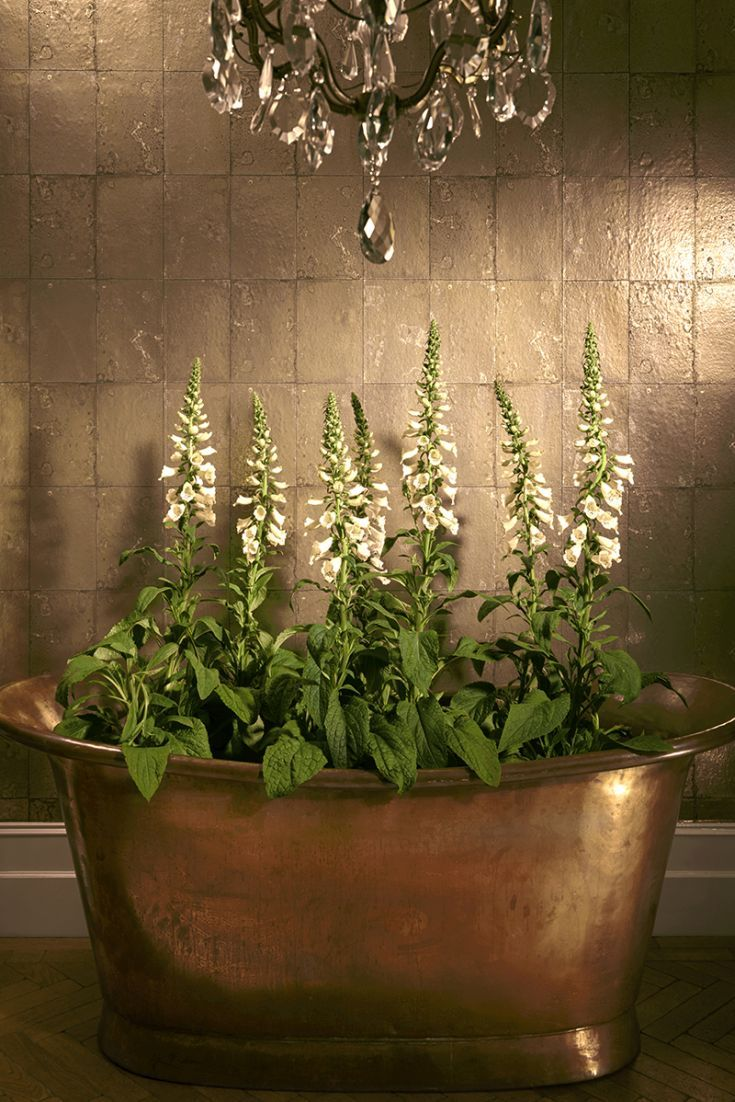 37 stenciled cinder block planter ideas and free 2017 from zola decor - Elegant Wallpaper Design Features Boxed Panels On A Foil Base Creating The Illusion Of Aged