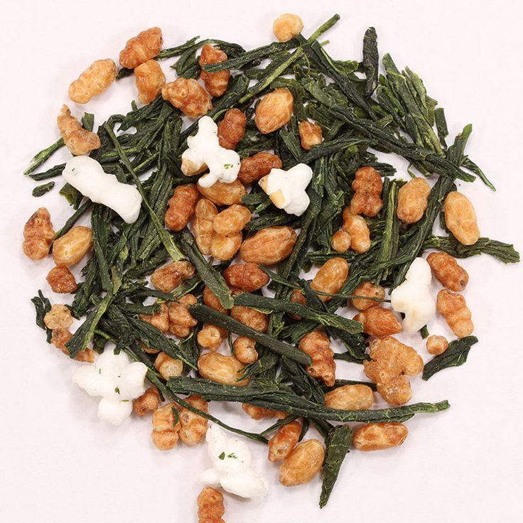 Genmai Cha // El té Genmai Cha es un clásico té verde japonés, mezclado con arroz tostado e inflado.