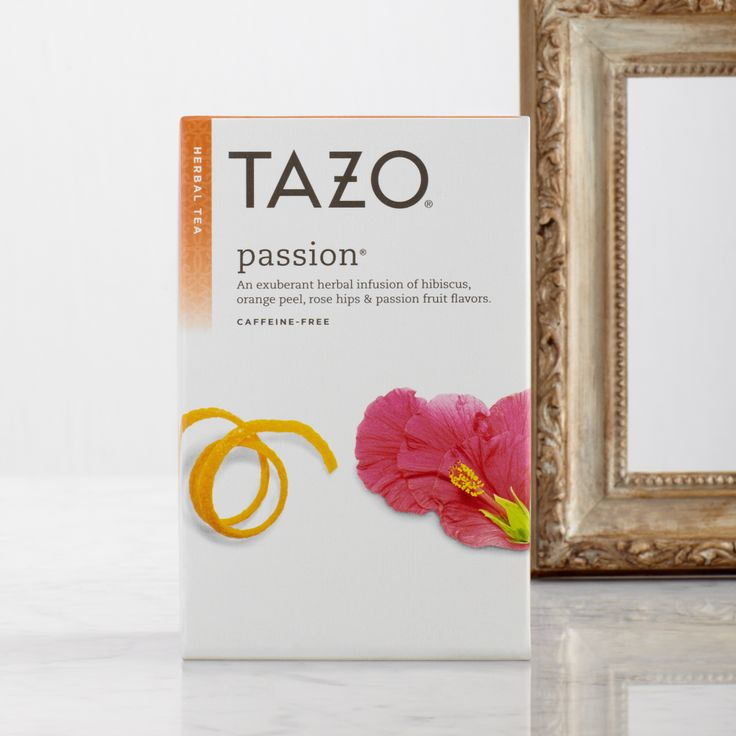 An exuberant herbal infusion of hibiscus, orange peel, rose hips and passion fruit flavors. #Tazo  http://www.tazo.com/Product/Detail/14]