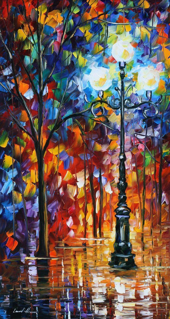 Here's another brilliant piece by Leonid Afremov, a Russian - Israeli modern impressionistic artist who now lives and paints in Mexico. LOVE his vibrant colors!!