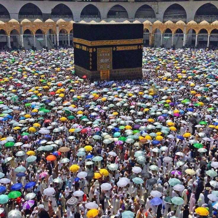 """Tawaaf in the Parching Heat Masjid-Al-Haram Makkah. """"When Allah loves a servant he tests him."""" #ProphetMuhammad #Tawaaf #Masjid_Al_Haram #Makkah #Hajj #Umrah Visit More View - http://www.mzahidtravel.com/hajj/packages/UK/silver-a-hajj-package.html"""