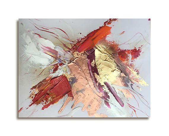 Œuvre originale et unique, réalisée dans mon atelier à Paris - Peinture abstraite faite à la main, avec de la peinture acrylique et dorée, ce qui apporte des reflets irisés et brillants de haute qualité. Les reflets sintensifients en fonction de la lumière. Je suis une artiste-peintre