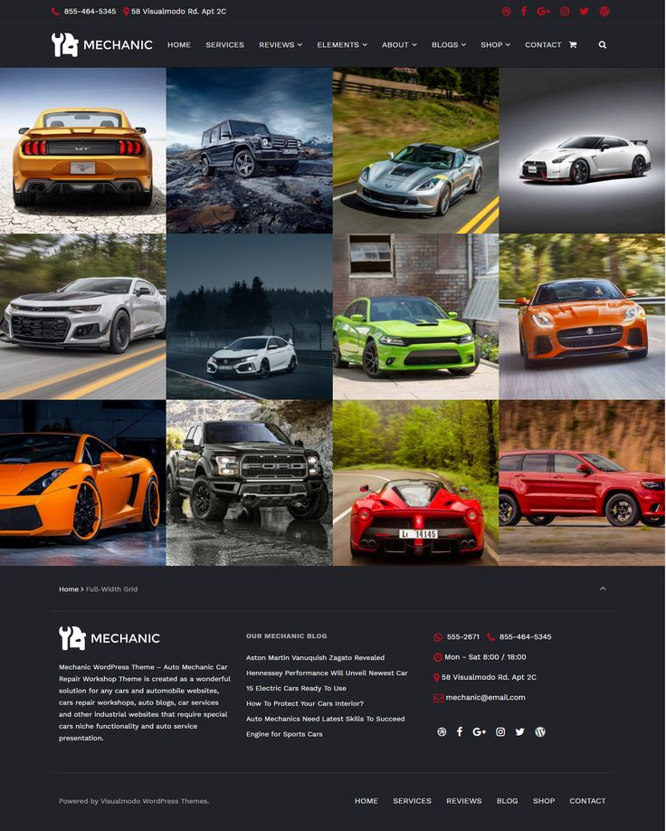 Mechanic WordPress theme - Auto and Car Repair Services WordPress Theme https://visualmodo.com/theme/mechanic-wordpress-theme/ Auto mechanic car repair workshop theme is created as a wonderful solution for any cars and automobile websites, cars repair workshops, auto blogs, car services and other industrial websites that require special cars niche functionality and auto service presentation  �