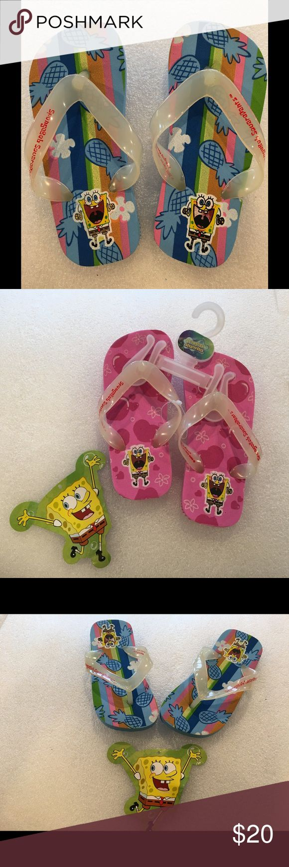 NWT original Spongebob flip flops The original Nickelodeon spongebob square pants flip flops.  For boys and girls. Larger quantity discounts available as well. They are a kids favorite, for birthday gifts or anytime you want to see a smile on your child's face 😃larger quantities available Shoes Sandals & Flip Flops