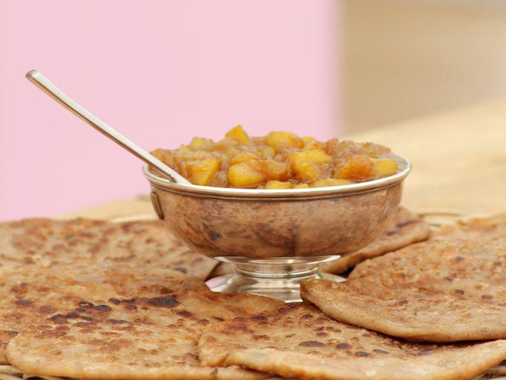 Yazh's blomkålsparatha med hemgjord mango chutney | Recept från Köket.se