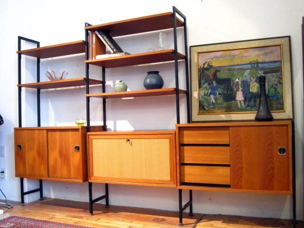 guff used vintage midcentury furniture vintage teak modular shelving unit
