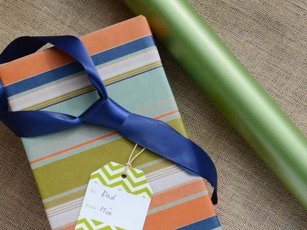 Classic stripes with a satin ribbon