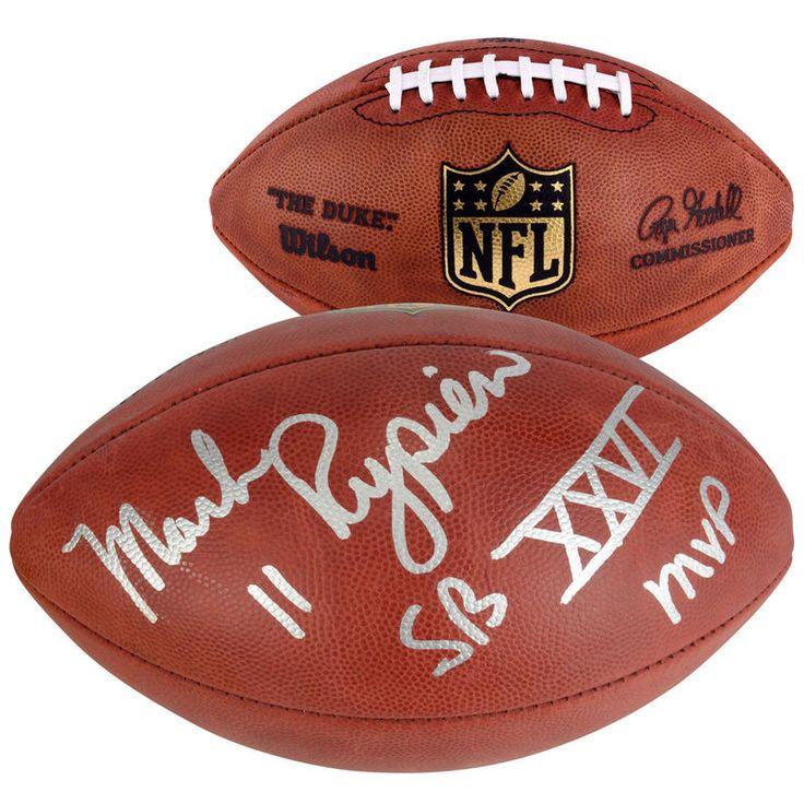 Mark Rypien Washington Redskins Fanatics Authentic Autographed Duke Football with SB XXVI MVP Inscription