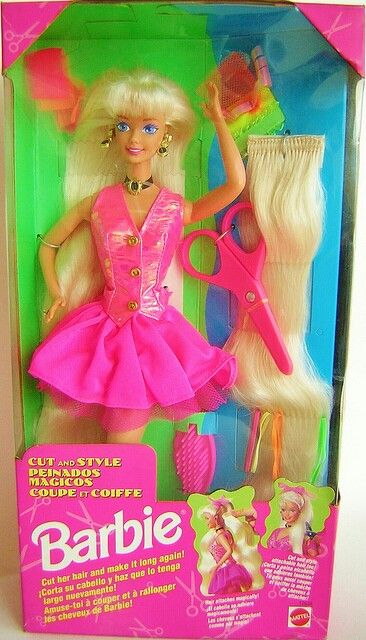 doll hair styling 24 best barbies of my childhood images on 1994