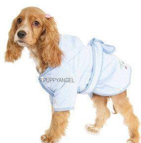 CHERRY BLUE DOG BATHROBE
