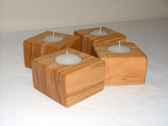 Handmade wooden candle holders/ tea light by TreescapeCornwall, £3.00
