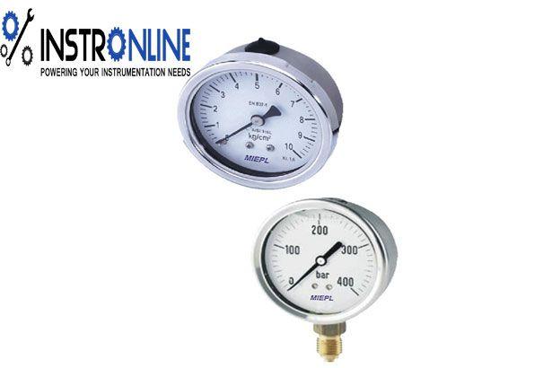 Bourdon Tube Pressure Gauge At Instronline Instrumentation Instronline When An Elastic Transducer Bourdon Tube In This C Pressure Gauge Gauges Transducer
