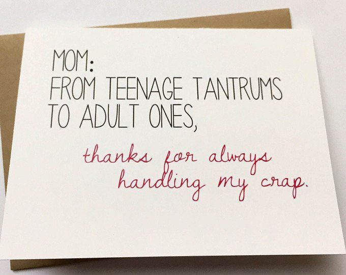Crazy Mom Card Mother S Day Card Mom Birthday Card Etsy In 2021 Happy Mother S Day Funny Mom Cards Funny Mothers Day