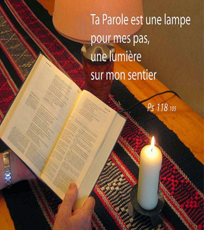 BONJOUR TOUT LE MONDE :-) La Parole de DIEU est cette lampe, cette lumière indispensable sur notre chemin semé d'embûches en ce monde de ténèbres. Restons sur le bon chemin chaque jour de notre vie, jusqu'au retour de notre Sauveur et Seigneur JÉSUS-CHRIST.... ♥ https://plus.google.com/u/0/+ClaudineMichau45/posts