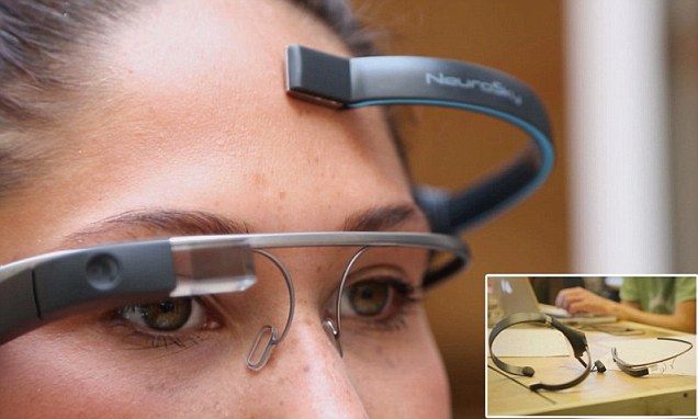 Take photos with your MIND: Google Glass gains telekinetic abilities Like this.