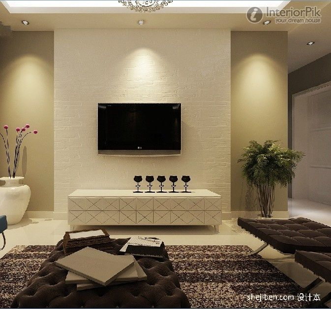 Wall Decor Gypsum : Gypsum board walls tv effect picture pictures home