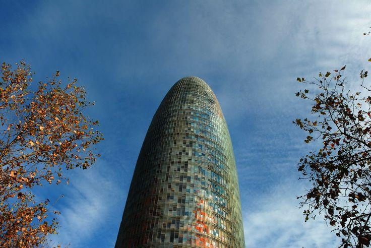 Torre Agbar, Barcelona. architecture , mosaic , sculpture , barcelona , art , building , modern art