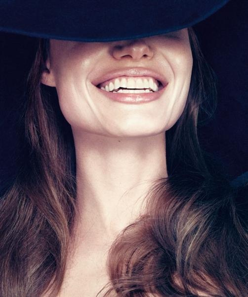 Angelina Jolie, I recognize her smile