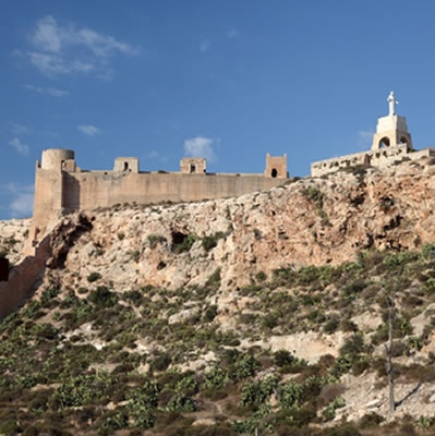 Cerro de San Cristobal and the Alcazaba wall