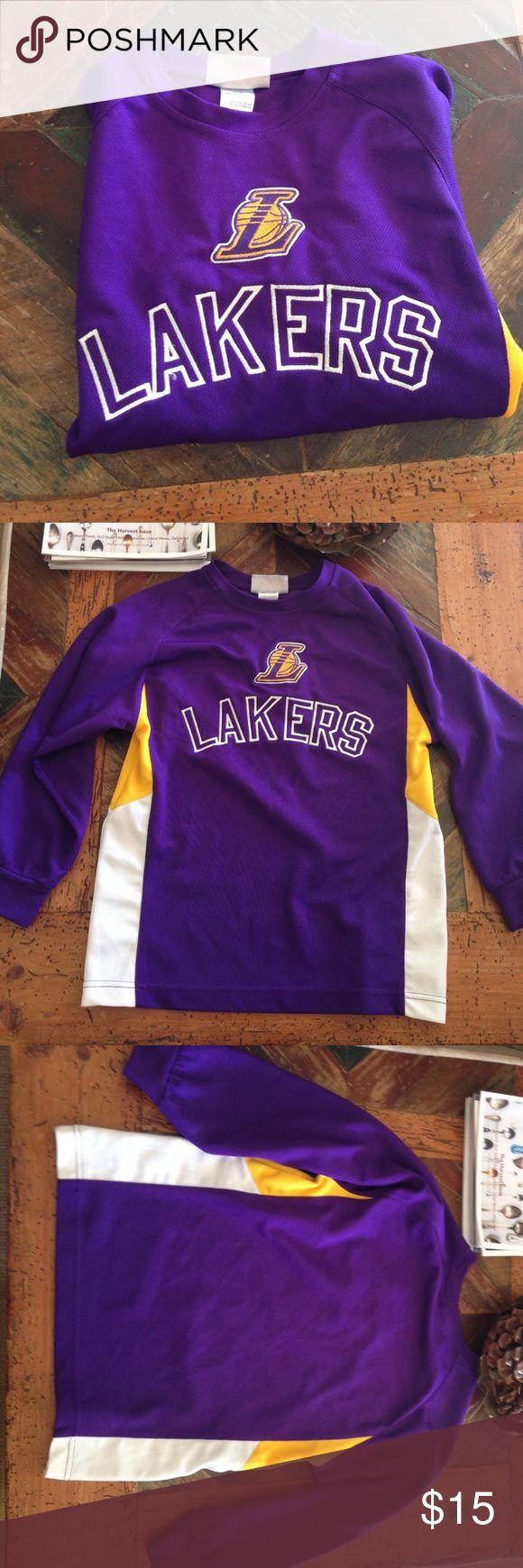 LA Laker's Shirt NBA, LA Lakers shirt, kids size small 8. Pre-loved, minimal wear (minor stain, see picture). NBA Shirts & Tops Tees - Long Sleeve