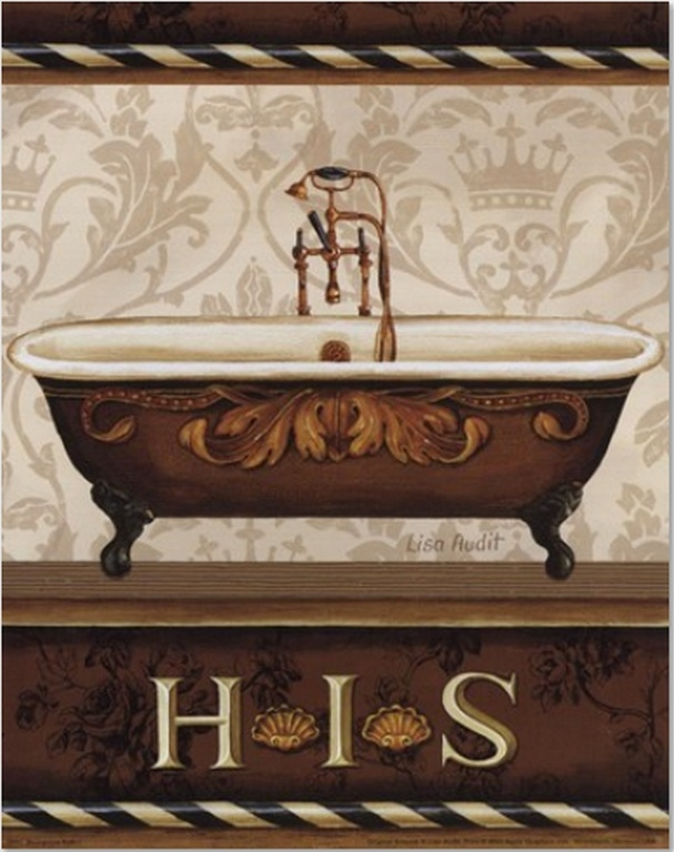 bourgoisie bath i by lisa audit art print bathroom