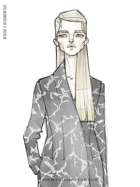 awesome Fashion illustration // Milan Zejak - a Feud-Winning Designer at Fashion Feud... by http://www.redfashiontrends.us/fashion-sketches/fashion-illustration-milan-zejak-a-feud-winning-designer-at-fashion-feud/