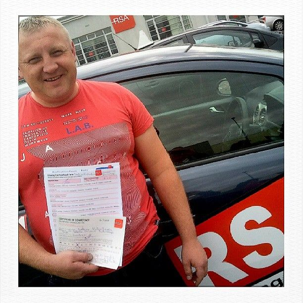 Congratulations Intars who passed first time with the RSA Driving School http://www.rsadrivingschool.ie Well done to his instructor Paul who has had a 100% pass rate this month...you're a beast! #rsadrivingschool #drivingtest #drivinglessonsdublin