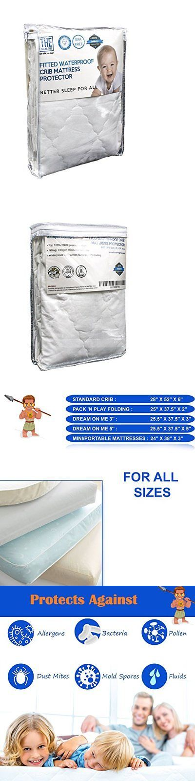 Mattress Pads And Covers 162041 Waterproof Crib Cover Hypoallergenic Breathable Cotton Thin
