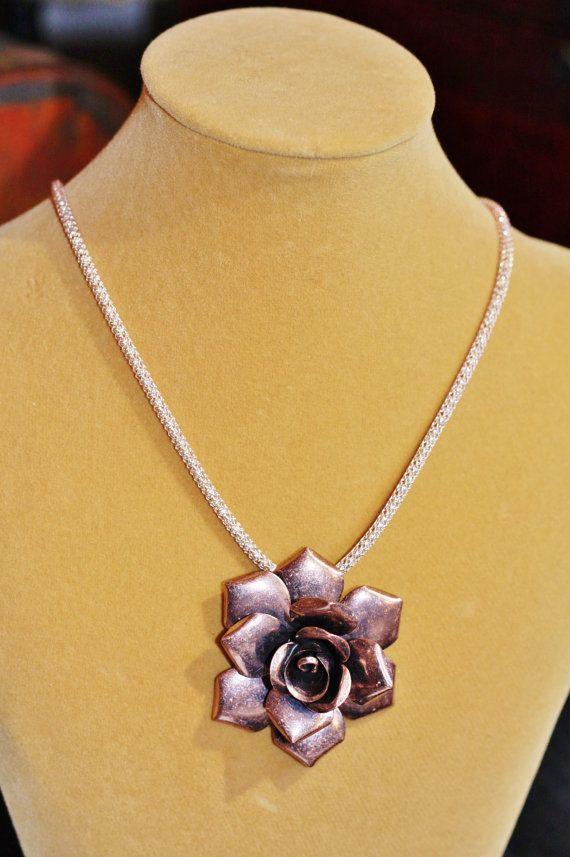 Fun copper rose and rose goldtone Silversilk by NeNesTrinkets, $38.00