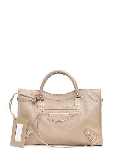 BALENCIAGA Balenciaga Borsa A Mano 'Metallic City' Chevre Grainee Brillante. #balenciaga #bags #shoulder bags #hand bags #metallic #