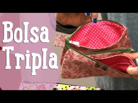 Bolsa Tripla - Costura Comigo - YouTube