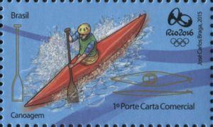 Sello: Canoeing (Brasil) (Olympic and Paralympic Games Rio 2016 second series) Mi:BR 4272,WAD:BR065.15,RHM:BR C-3475