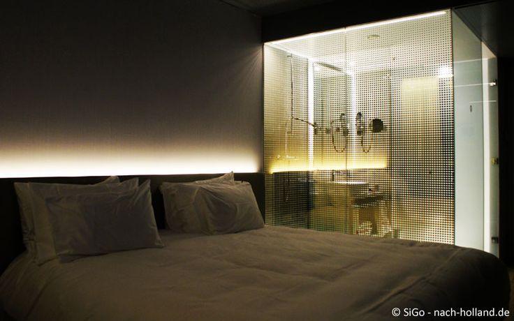 Schickes Design im Zimmer des nhow Rotterdam entworfen von Rem Kolhaas
