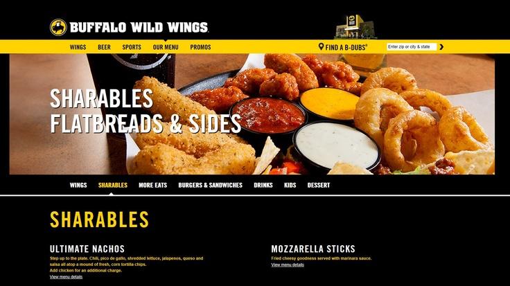 Buffalo wild wings restaurants menu