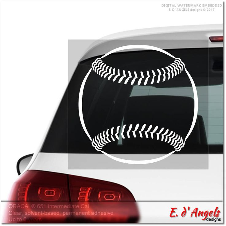 Baseball decal, car decal, vinyl decal, decals, car decals, custom decals, cute car decals, funny car decals, car decals for girls