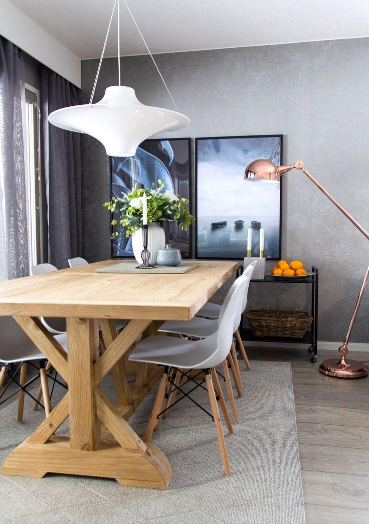 Malaga ruokapöytä, Rana tuolit ja Lokki valaisin