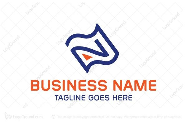 Logo For Sale Letter N Paper Logo Simple Letter N Inside Paper Or