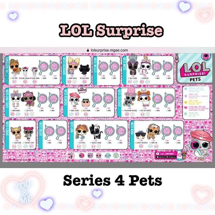 Series 4 Lol Full Checklist Pets Lolsurprisepets