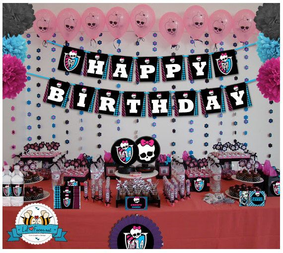 52 Best Monster High Party Images On Pinterest Monster High Party