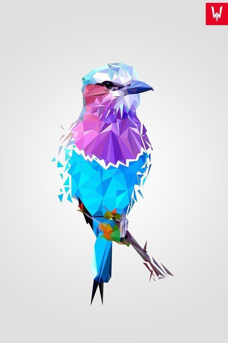 خلفيات طيور مرسومة بطريقة هندسية Geometric Birds عالية الوضوح حيوانات 6 Geometric Art Geometric Art Prints Geometric Bird