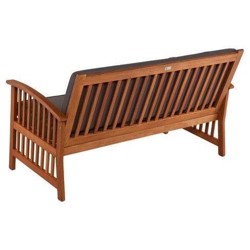 Aiden Lane Castille Brazilian Hardwood Outdoor Sofa Natural