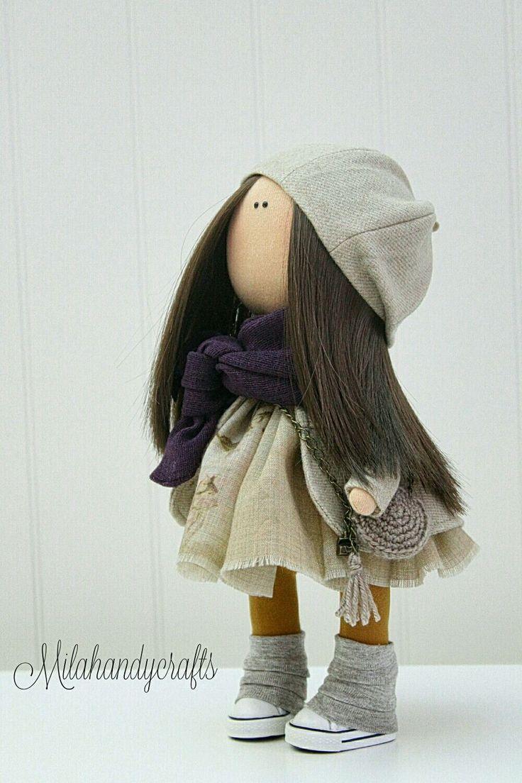Купить В мечтах о Париже - кукла в подарок, кукла ручной работы, интерьерная кукла