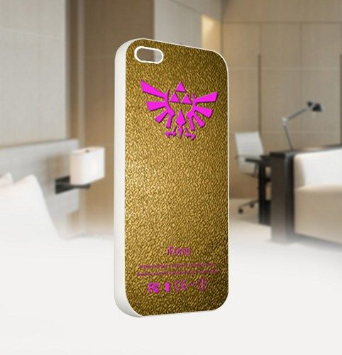 The Legend of Zelda iForce Gold - For IPhone 4 or 4S White Case Cover