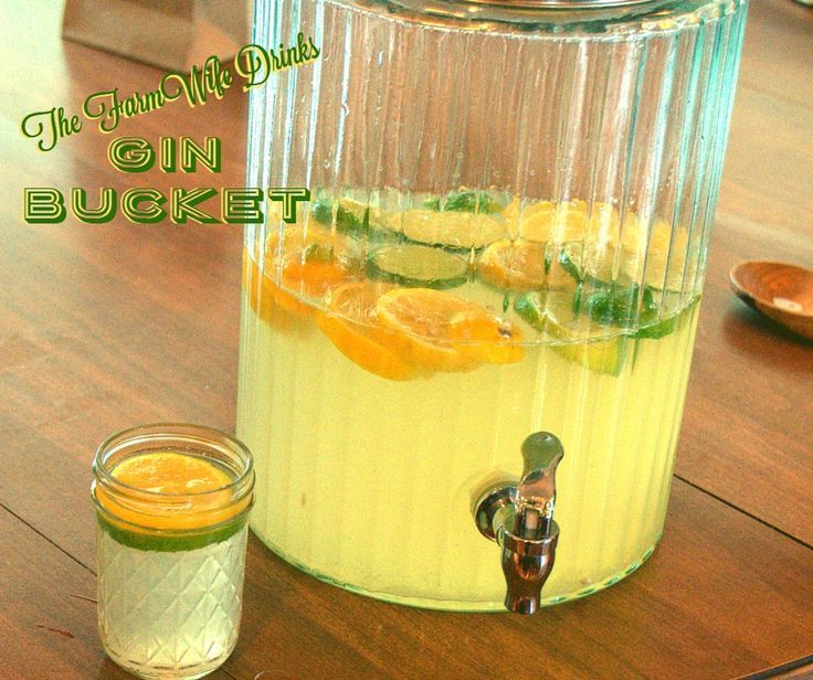 A Gin bucket is simple to make, easy to have the ingredients on hand and doesn't taste anything like a pine tree.