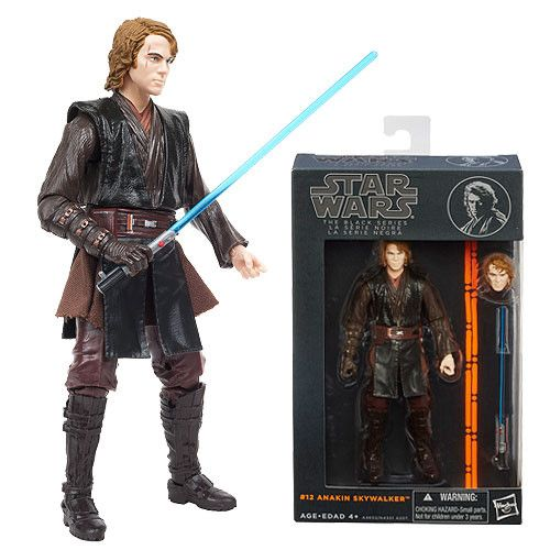 "Hasbro Star Wars The Black Anakin Skywalker #12 6"" Action Figure"