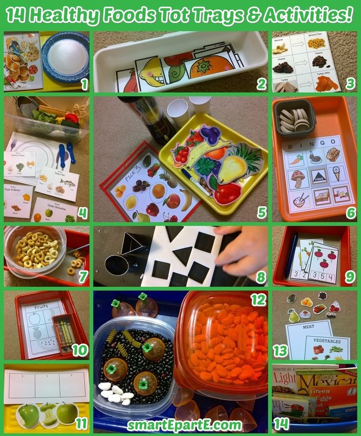 Food And Activities: Tot Trays, Tot School And