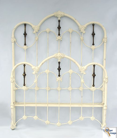Victorian White Iron Beds : Best images about iron beds on painted