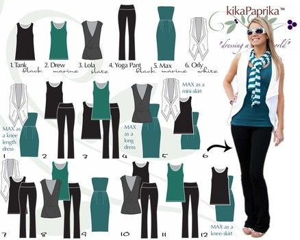 These six pieces mix-and-match to create at least NINE outfits.For more information on KikaPaprika clothing contact amydaguanno@kikapaprika.com