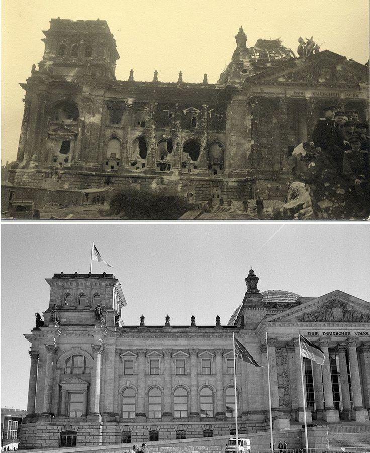 Berlin- Imprimirhttp://es.rt.com/3pxlPortadaActualidad Increíbles fotos: Alemania antes y después de la Segunda Guerra Mundial Publicado: 1 may 2015 10:56 GMT | Última actualización: 1 may 2015 10:59 GMT 3.4K533 berlin Reuters / MHM / Fabrizio Bensch Con una serie de asombrosas imágenes dos fotógrafos de diferentes épocas nos muestran los cambios que han ocurrido en Berlín desde que en 1945 el Ejército Rojo entró en la capital alemana para terminar de liberar a Europa del nazismo. berlin…