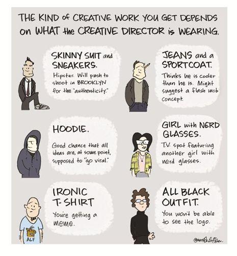 Directores creativos, esa pandi #infografia #publicidad #humor
